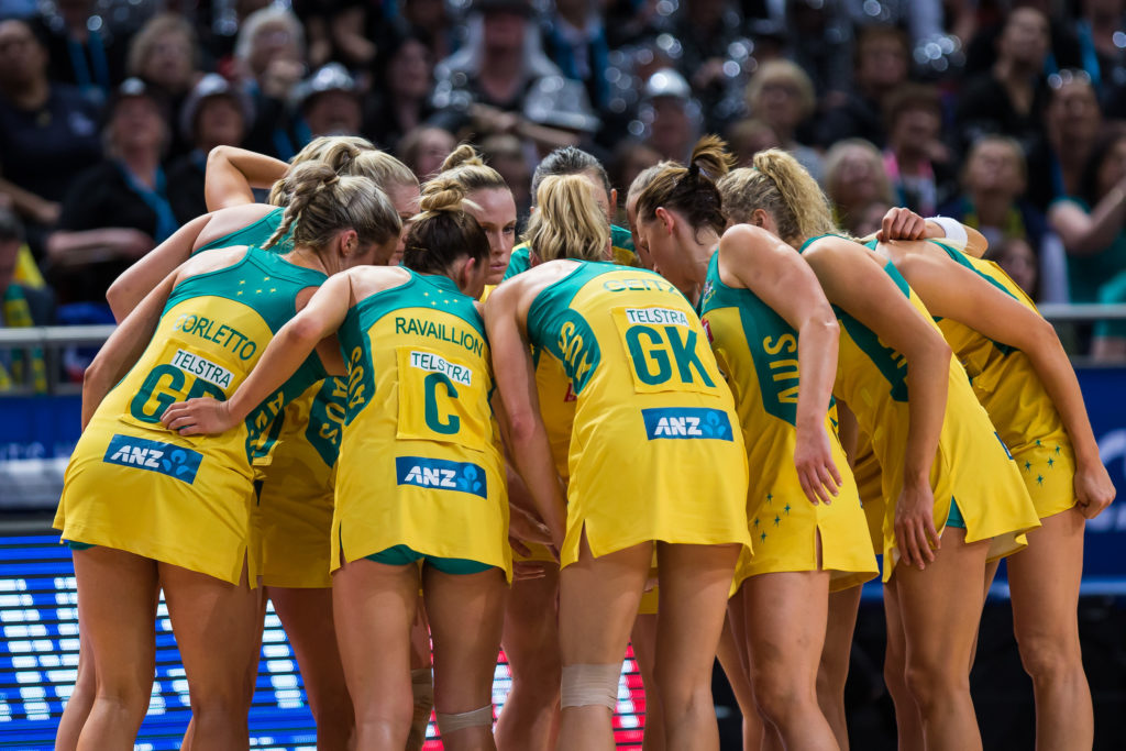 SUNDAY 16 AUGUST - Australia (AUS) v New Zealand (NZL) in the Gold Medal game on Day 10 of the Netball World Cup 2015 SYDNEY. Photo: Murray Wilkinson (NWC2015 Media)