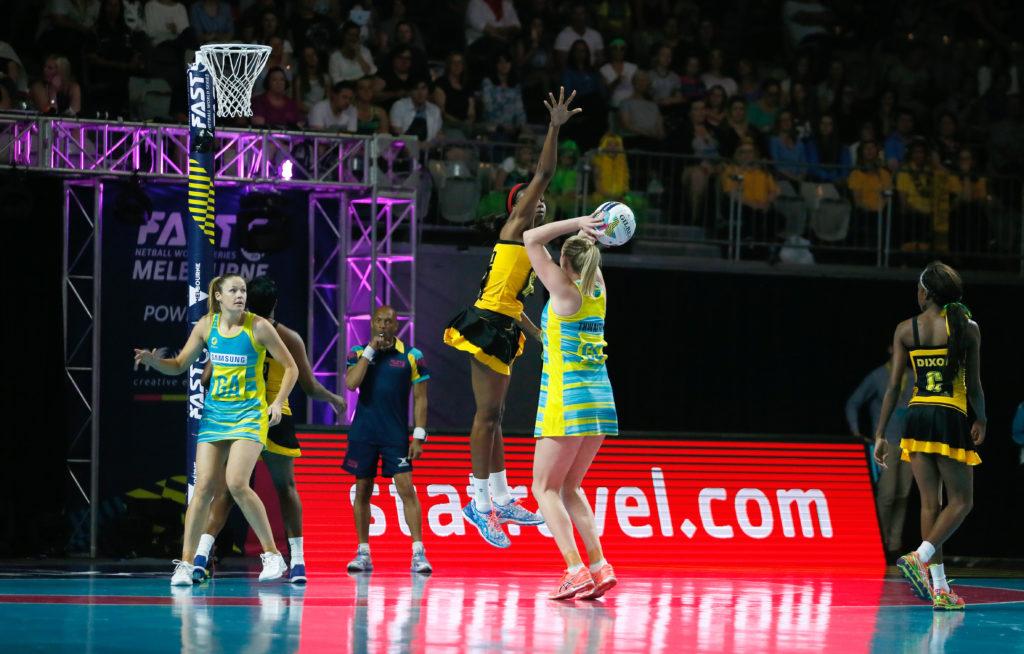2016 Fast 5 Netball World Series Game 4 Australia v Jamaica Caitlin Thwaites